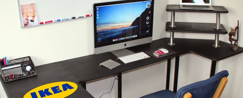 9 practical ikea hacks for your office workstation - Mobile computer ikea ...