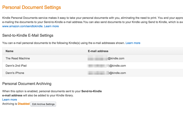 kindle-email-settings