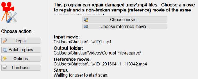 Восстановить MP4 видео файл