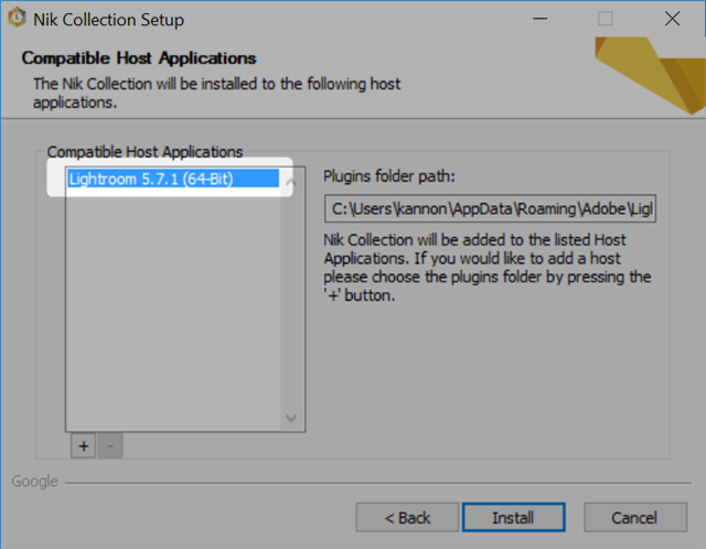 nik collection installation plugin location