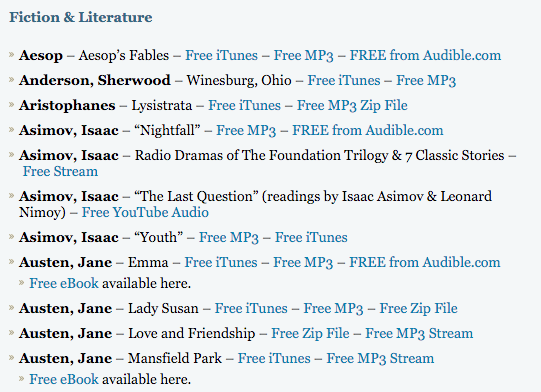 10 ways you can download audiobooks for free right now dan colman the owner of open culture has spent a significant amount of time putting together gumiabroncs Choice Image