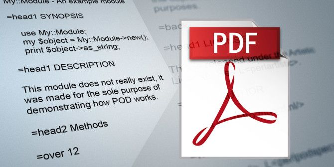 How to Open & Convert POD to PDF to Read Perl Documentation