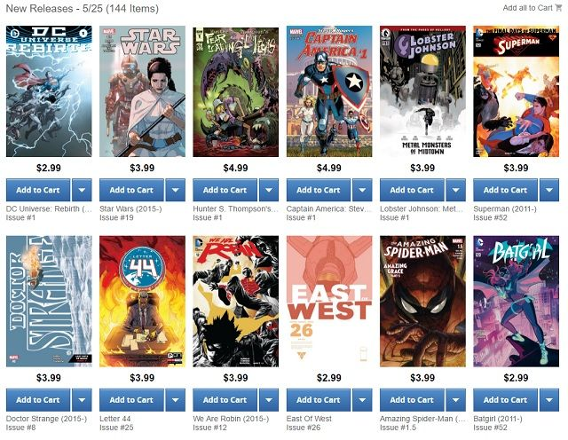 Comixology New Releases