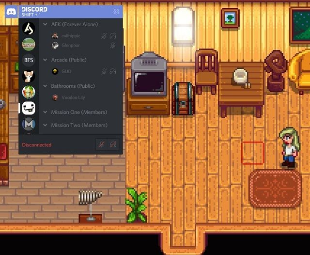 Discord Overlay in Stardew Valley
