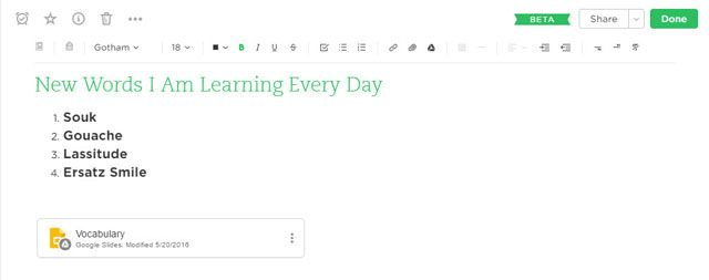 Use Evernote to capture new words.