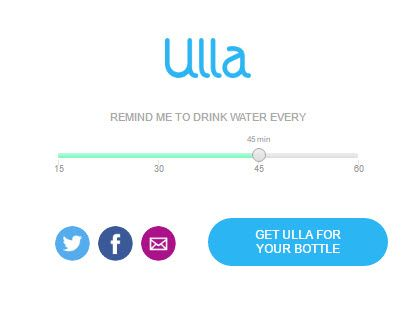 Drink water with Ulla
