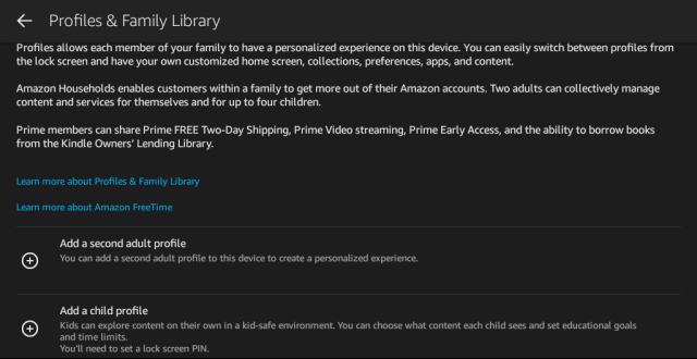 Kindle Fire Family Library