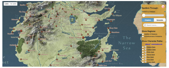 Everything you want to know about game of thrones explore the world of game of thrones map of westeros gumiabroncs Choice Image
