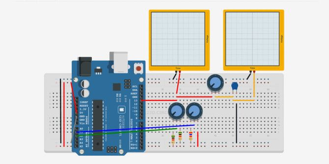 simulate and test arduino projects with 123d circuits rh makeuseof com Electronic Circuits Projects Diagrams FreeWifi Basic Audio Amplifier Circuit Diagram