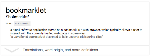 bookmarklet-definition