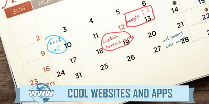 5 Awesome Event Calendars to Always Know What's Coming Up