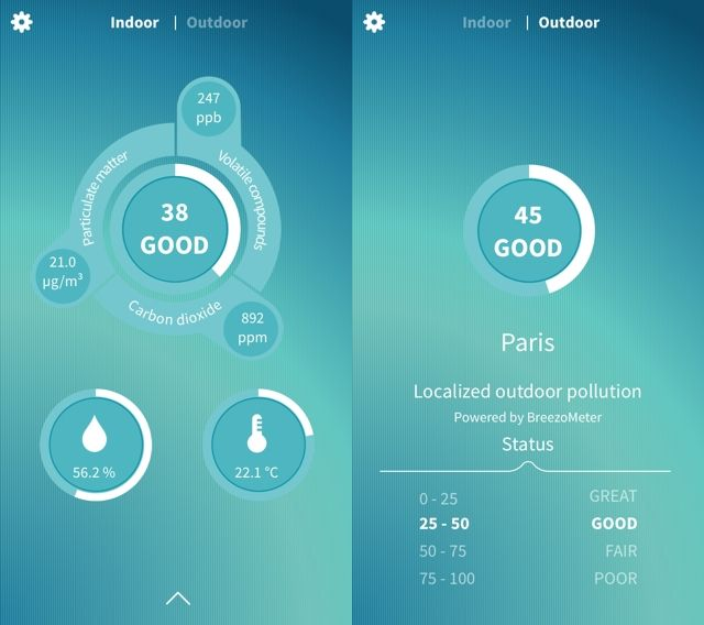 Foobot Indoor Air Quality Monitor Review foobot ios app