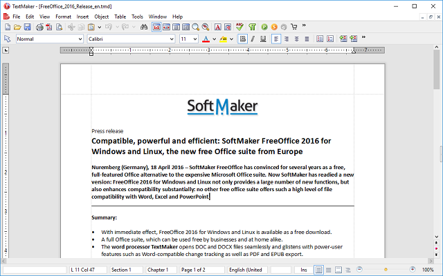 microsoft office alternatives - SoftMaker Office