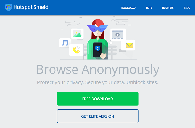 Browse anonymously with Hotspot Shield