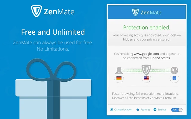 ZenMate VPN us available for the Chrome browser