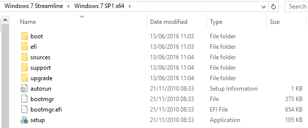 File Update Folder Structure