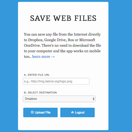 SaveWebFiles