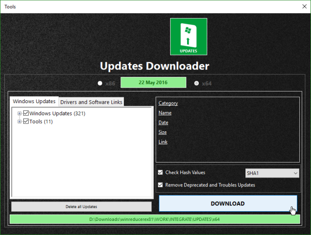 WinReducer Download Windows Updates