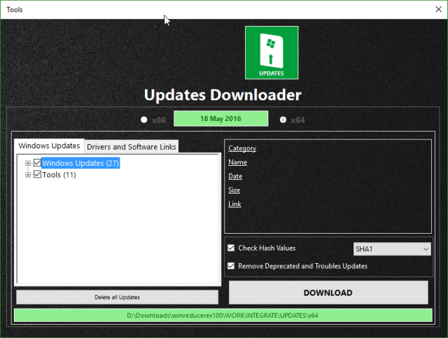 WinReducer Windows 10 Updates