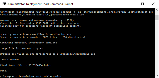 Windows AIK Command Line