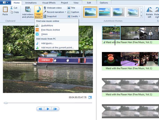 free auto movie themes for windows movie maker