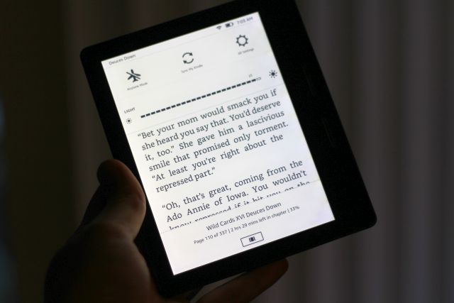 amazon kindle oasis backlight max