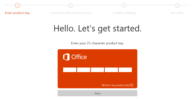 what is a 25 character product key for microsoft office