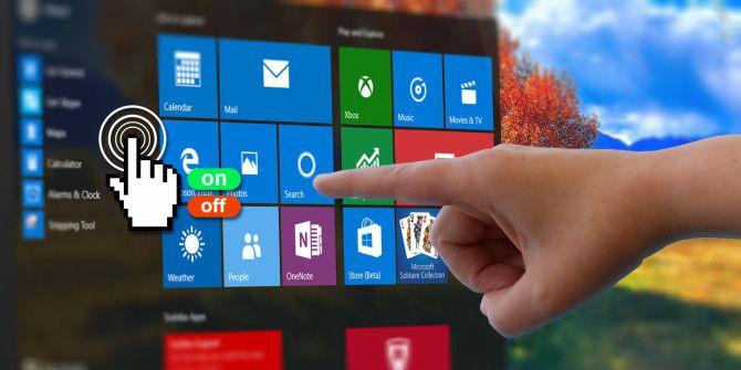 How to Toggle the Touchscreen in Windows 10
