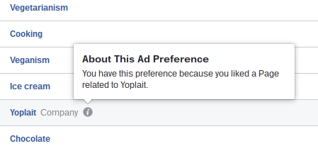 About Facebook Ad Preferences