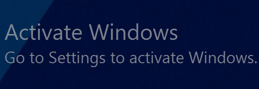 Activate Windows 10 Watermark