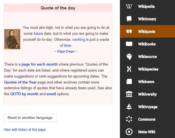 Access the best of the Wikipedia Universe