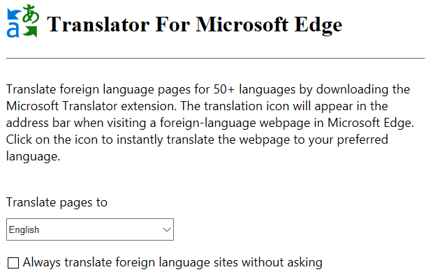 Edge Translator