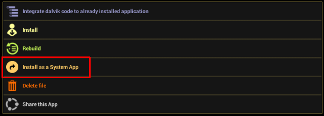 Install as a System App