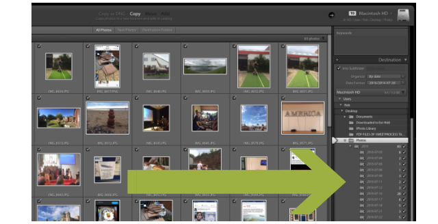 Lightroom FOlders Import