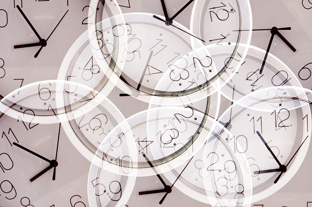 Multiple exposures of clocks at different times