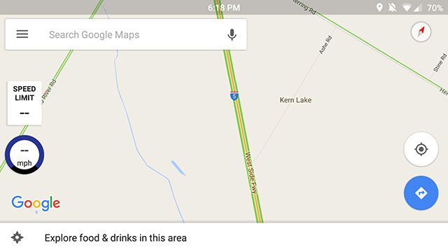 speed limit google maps