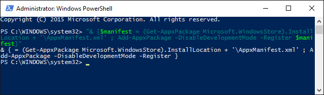 windows store powershell
