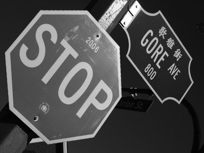 Stop Sign Gore Ave Original Photo
