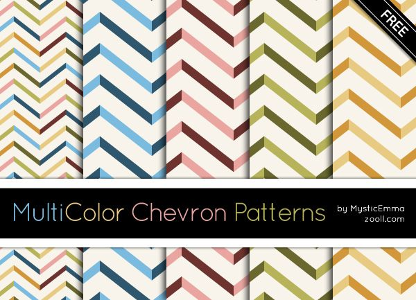 MultiColor Chevron Patterns Example