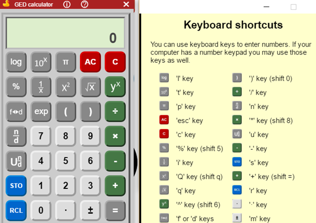 GED Scientific Calculator Chrome Extension