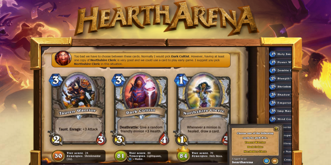 Become a Hearthstone Arena Pro With This Nifty App