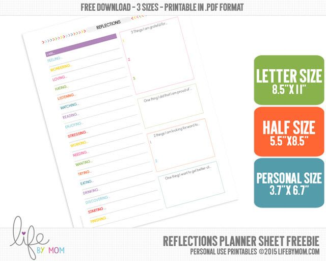 Productivity Planner -- Reflections