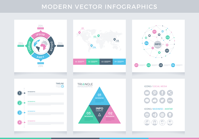 Modern Vector Infographics Example