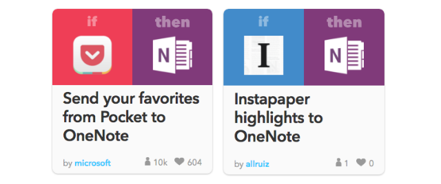 OneNote Integrations With IFTTT Feature Example