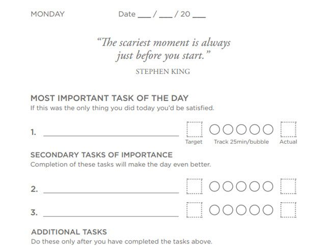 Free Printable Productivity Planner Templates - Productivity planner review