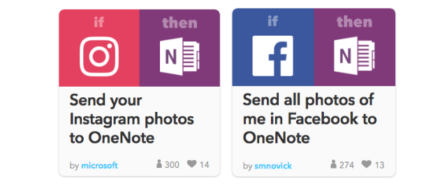 Social Integrations OneNote With IFTTT Feature Example