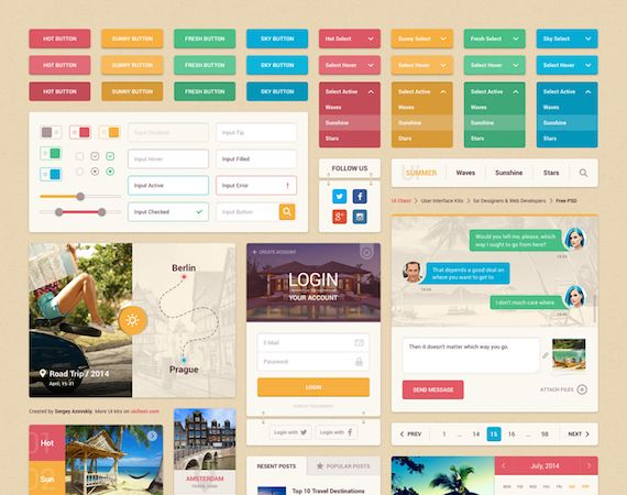 Summer UI Kit Template Example