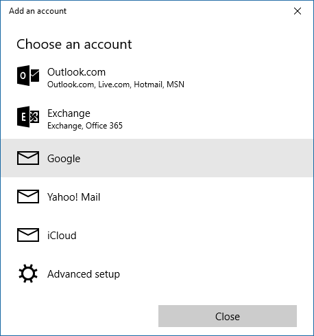 Windows Calendar App Account Setup