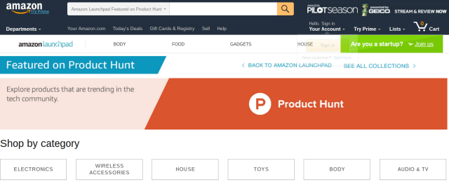amazon-product-hunt-page