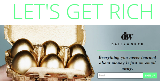DailyWorth Newsletter Signup Screenshot